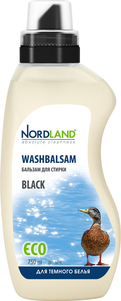 Бальзам для стирки темного белья Nordland Black, 750 млZ-0307Бальзам для стирки Nordland Black специально предназначен для стирки белья и одежды темного цвета из синтетических и хлопчатобумажных тканей. Сохраняет насыщенность красок, предотвращает появление белесости. Содержит безопасные, не раздражающие кожу компоненты. Подходит для всех типов стиральных машин и ручной стирки при температуре от +20° до +60°С.- Без красителей- Антиаллергенный состав- Экономичный расход- Действует уже при +20°С- Биораспад 100%Состав: 5-15% анионные ПАВ, неионные ПАВ; менее 5% амфотерные ПАВ, мыло; энзимы, ароматизатор, консервант (бензизотиазолинон). Товар сертифицирован.