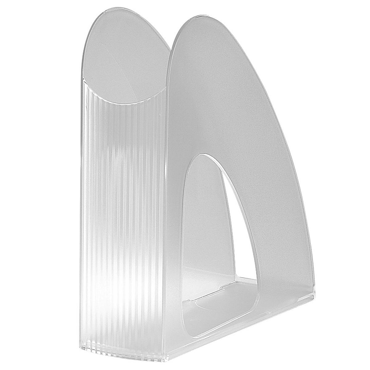 Лоток для бумаг вертикальный HAN Twin, прозрачный, цвет: белый16250Вертикальный лоток для бумаг HAN Twin с оригинальным дизайном корпуса поможет вам навести порядок на столе и сэкономить пространство.Лоток изготовлен из высококачественного антистатического прозрачного пластика. Низкий передний порог облегчает изъятие документов из накопителя.Благодаря лотку для бумаг, важные бумаги и документы всегда будут под рукой.