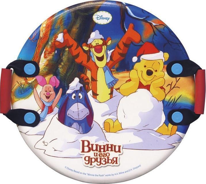 """Ледянка с красочным дизайном героев популярного мультфильма """"Винни-Пух и его друзья"""" от Disney. Несмотря на то, что ледянка очень легкая и прочная, на ней можно кататься практически с любых горок. Изготовлена из прочного вспененного пластика. Удобные ручки позволят не упасть при спуске с крутых горок. Яркий рисунок будет долго держаться даже при интенсивном катании."""