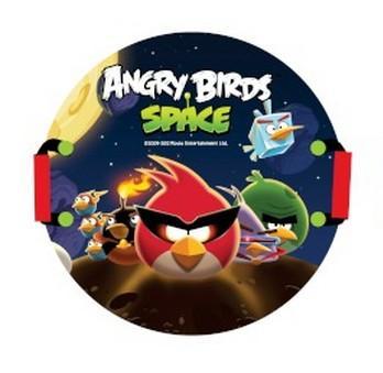 """Ледянка с красочным дизайном героя популярной игры """"Angry Birds"""". Несмотря на то, что ледянка очень легкая и прочная, на ней можно кататься практически с любых горок. Изготовлена из прочного вспененного пластика. Ручки для рук позволят не упасть при спуске с крутых горок. Яркий рисунок будет долго держаться даже при интенсивном катании."""
