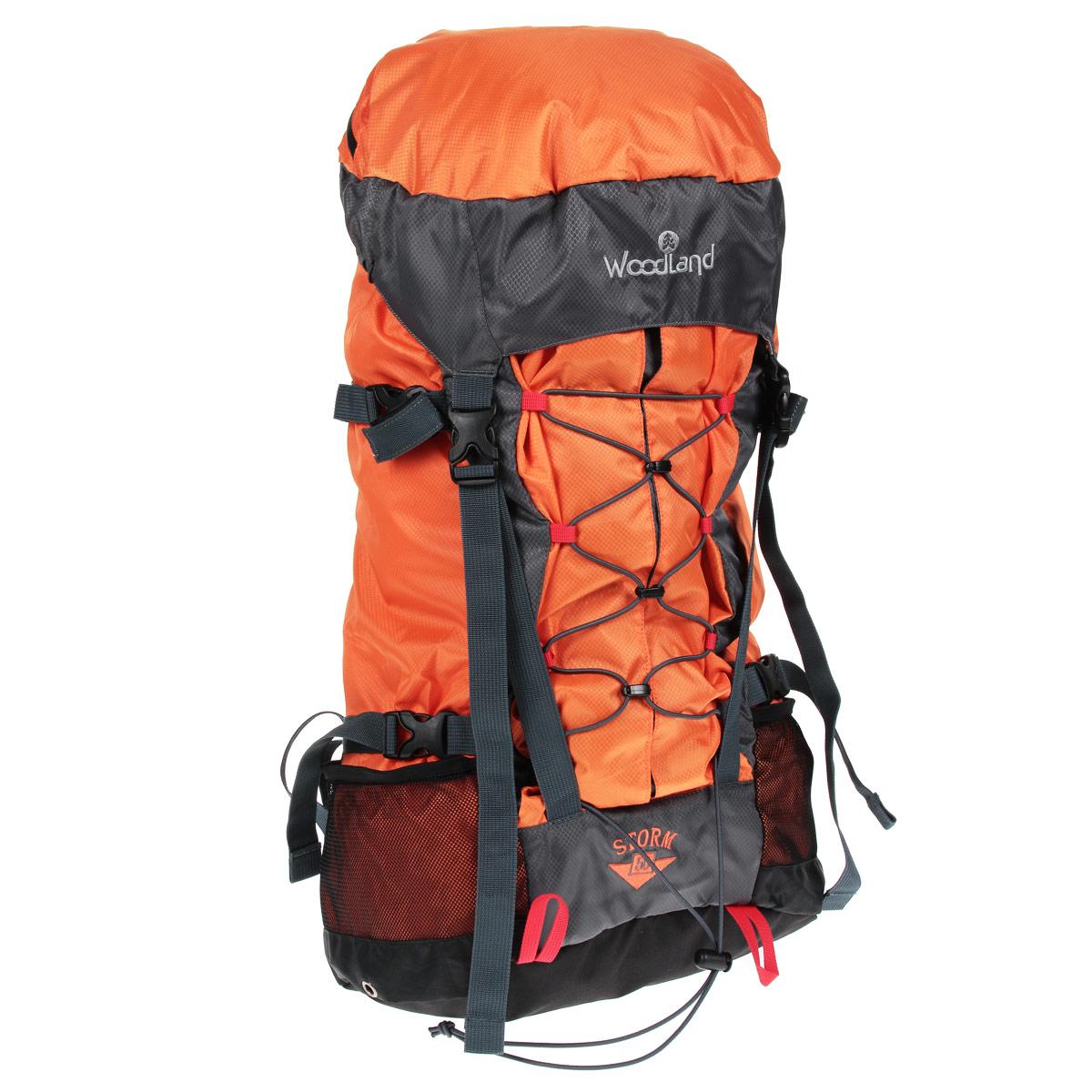 Рюкзак WoodLand Storm 50, цвет: оранжевый, темно-серыйУТ-000057591Рюкзак WoodLand Storm 50 - это комфорт и удобство для восхождения или прогулок. Малый вес и большой объем. Удобный внешний карман с легким доступом вмещает все необходимое оборудование.Особенности рюкзака:Клапан несъемный, с карманом на на влагозащищенной молнии.Один вход в основное отделение, верхний.Фронтальный вместительный карман с вертикальной загрузкой.Точки подвески питьевой системы на VELCRO (липучка).Широкие крылья поясного ремня.S-образные лямки.Грудная стяжка с резиновым компенсатором.Пластиковая фурнитура YKK.