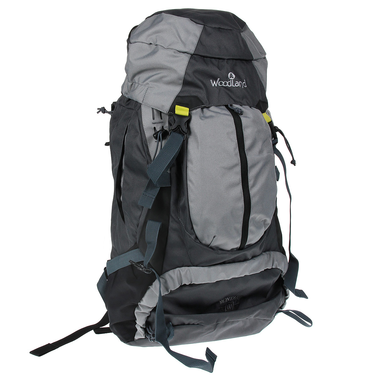 Рюкзак WoodLand Mountana 60, цвет: черный, серый