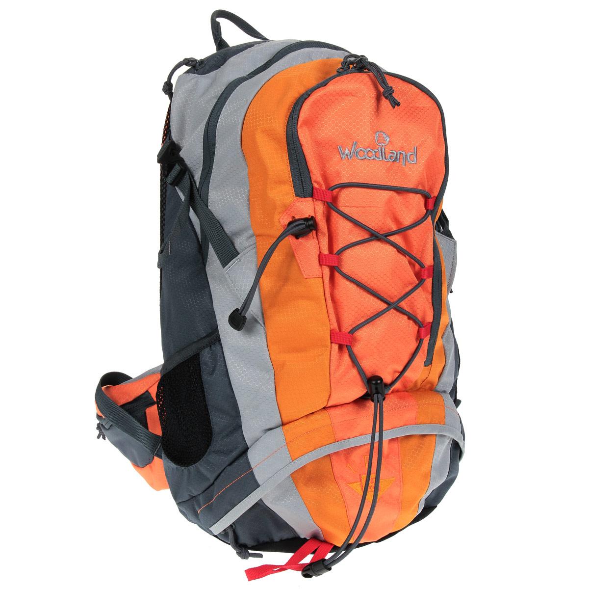 Рюкзак WoodLand UPS 25, цвет: оранжевый, желтый, темно-серый
