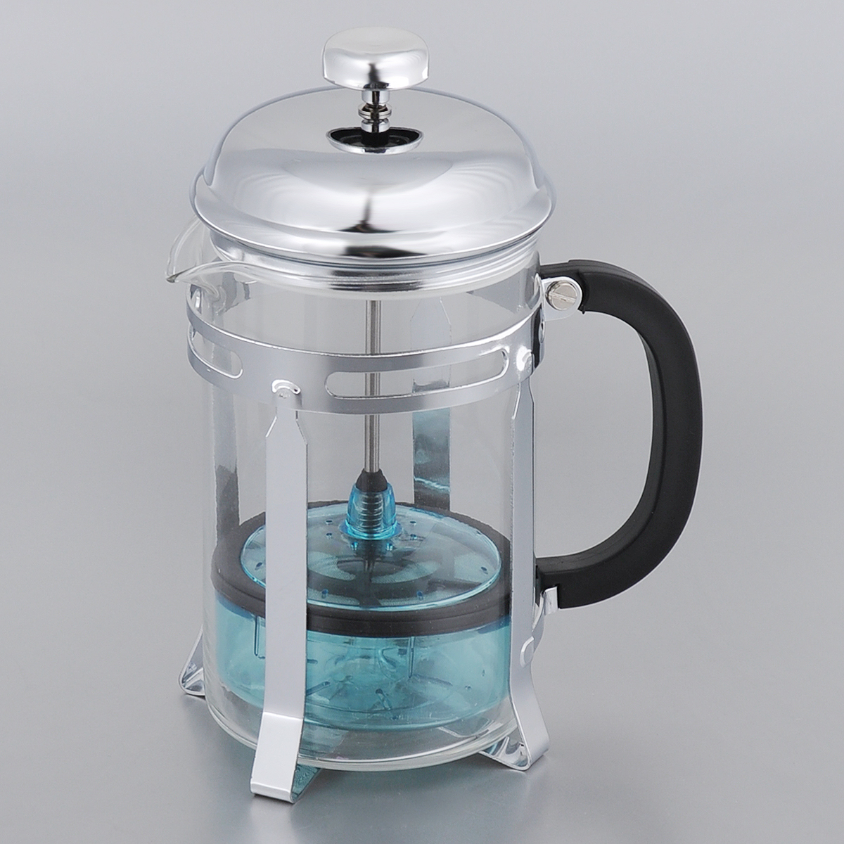 Френч-пресс Bekker, 850 мл. BK-355FS-91909Френч-пресс Bekker представляет собой колбу из жаропрочного стекла в оправе из нержавеющей стали. Френч-пресс позволяет легко и просто приготовить отличный напиток. Крышка выполнена из нержавеющей стали. Благодаря такому френч-прессу приготовление вкуснейшего ароматного и крепкого кофе займет всего пару минут. Настоящим ценителям натурального кофе широко известны основные и наиболее часто применяемые способы его приготовления: эспрессо, по-турецки, гейзерный. Однако существует принципиально иной способ, известный как french press, благодаря которому приготовление ароматного напитка стало гораздо проще. Весь процесс приготовления кофе займет не более 7 минут.Можно мыть в посудомоечной машине.