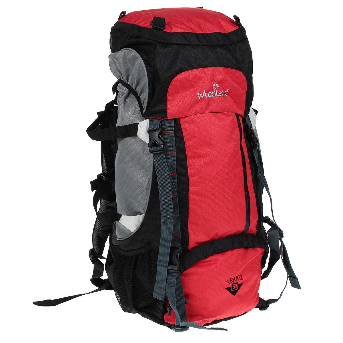 Рюкзак WoodLand  Travel 50 , цвет: красный, серый, светло-серый - Туристические рюкзаки