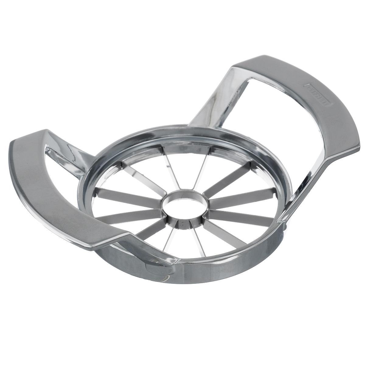 Яблокорезка Leifheit ProlineTK 0072Яблокорезка Leifheit Proline изготовлена из высококачественной нержавеющей стали. Чрезвычайно острые нержавеющие лезвия разделяют яблоко на 12 кусочков одинакового размера и, в тоже время, удаляют сердцевину. Яблокорезка Leifheit Proline станет прекрасным дополнением к коллекции ваших кухонных аксессуаров. Можно мыть в посудомоечной машине.