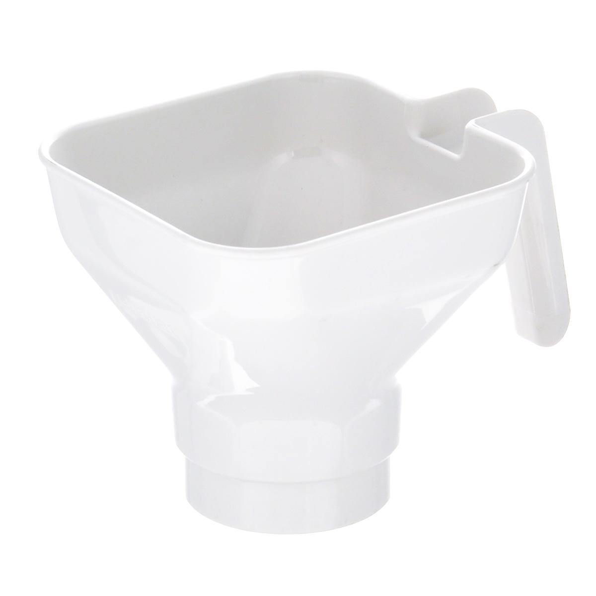 Воронка для варенья Leifheit Creative36500Воронка для варенья Leifheit Creative изготовлена из пищевого пластика. Она представляет собой обычную воронку с ручкой для более удобного использования. Единственное ее отличие состоит в диаметре самого отверстия. Подобное изделие предназначено для разлива варенья в банки и емкости с большим горлышком. Можно использовать для других пищевых продуктов. Подходит для мытья в посудомоечной машине.