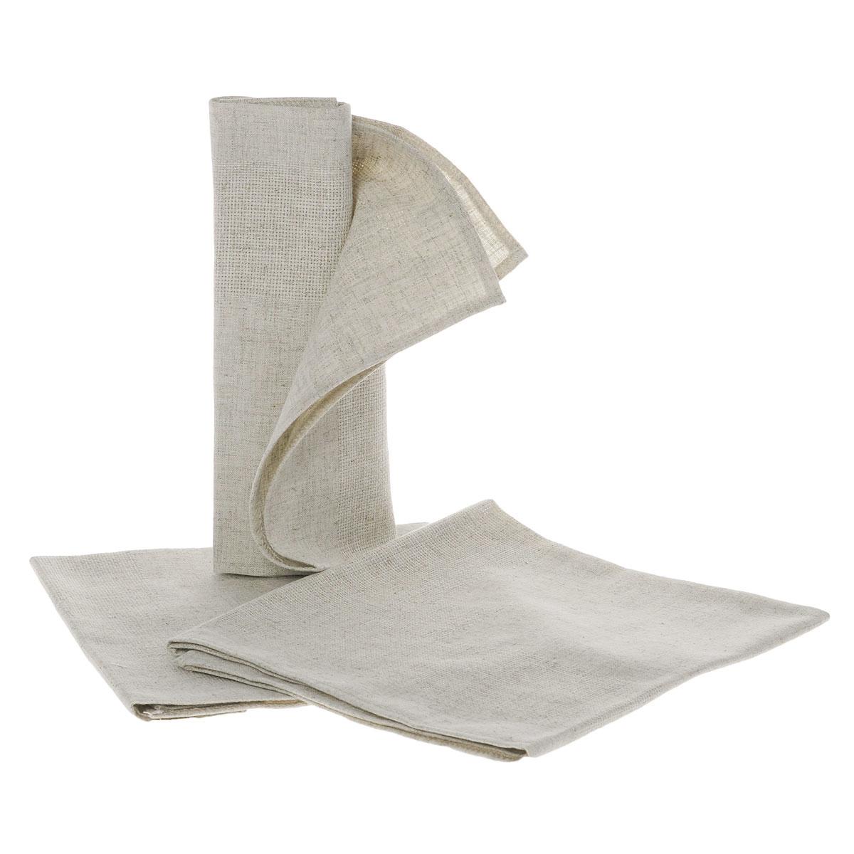 Салфетки Alisena, цвет: бежевый, 46 х 44 см, 3 штRDP-802Салфетки Alisena выполнены из натурального льна. В наборе - 3 салфетки. Такие салфетки защитят ваш стол от царапин и станут оригинальным дополнением интерьера. Вы можете использовать салфетки для декорирования стола, комода, журнального столика. В любом случае они добавят в ваш дом стиля, изысканности и неповторимости.