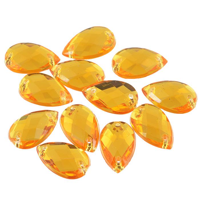 Стразы пришивные Астра, капля, цвет: светло оранжевый (11), 8 х 13 мм, 12 шт. 7701655C0042416Набор страз Астра, изготовленный из акрила, позволит вам украсить одежду и аксессуары. Стразы оригинального и яркого дизайна выполнены в форме капли и оснащены отверстиям для пришивания. Украшение стразами поможет сделать любую вещь оригинальной и неповторимой.Размер страз: 8 х 13 мм.