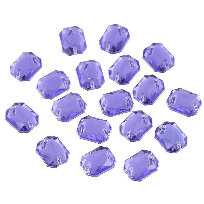 Стразы пришивные Астра, акриловые, прямоугольные, цвет: фиолетовый (24), 8 мм х 10 мм, 18 шт. 7701652_24C0042416Набор страз Астра, изготовленный из акрила, позволит вам украсить одежду и аксессуары. Стразы оригинального и яркого дизайна выполнены в форме прямоугольникаи оснащены отверстиям для пришивания. Украшение стразами поможет сделать любую вещь оригинальной и неповторимой.