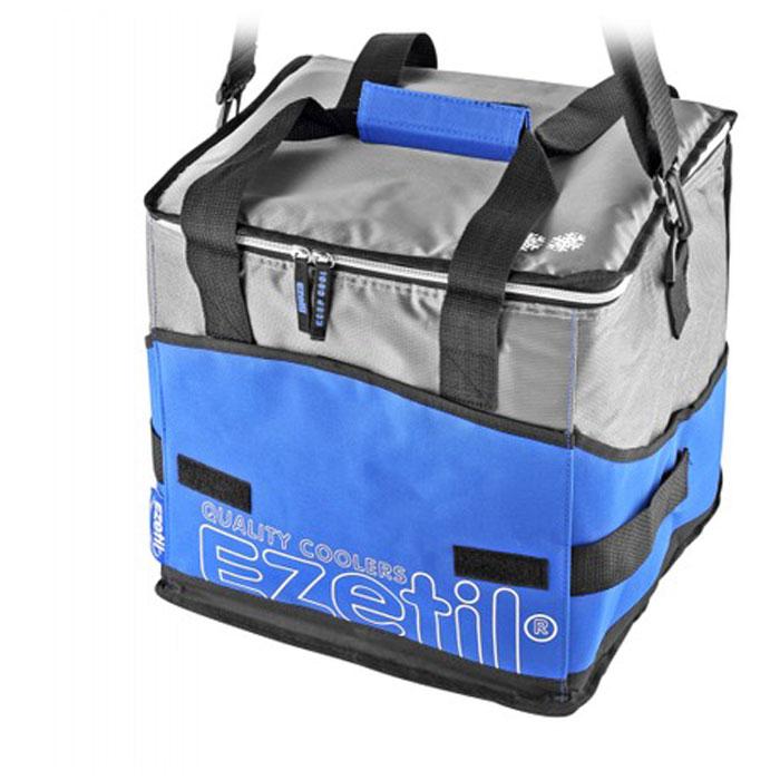 Сумка-холодильник Ezetil KC Extreme, цвет: синий, 28 л726881Сумка-холодильник Ezetil KC Extreme предназначена для транспортировки и хранения продуктов и напитков. Сумка изготовлена из высококачественного полиэстера, внутренняя поверхность отделана специальным термоизоляционным материалом PEVA толщиной 8 мм, безопасным для контакта с пищевыми продуктами. Внешняя светоотражающая ткань является дополнительным барьером, обеспечивающим надежное удержание холода внутри. Изделие произведено с использованием экологически безопасных и гигиеничных материалов, как внутри, так и снаружи, не содержащих в себе поливинилхлорид. 100% герметичность изотермической сумки обеспечивается современной технологией горячей спайки внутренних швов. Многослойная изоляция обеспечивает надежное удержание температуры помещенных в сумку продуктов при ее максимальном заполнении в течение нескольких часов. Сумка фиксируется в сложенном состоянии, имеет съемное дно и практична в уходе. Снаружи имеется 3 кармана на липучках, куда можно положить телефон, ключи и другие мелкие аксессуары. Для удобной переноски сумка снабжена отстегивающимся плечевым ремнем. Объем: 28 л.Размер сумки: 33,5 см х 28,5 см х 32,5 см.Изоляция: 8 мм.