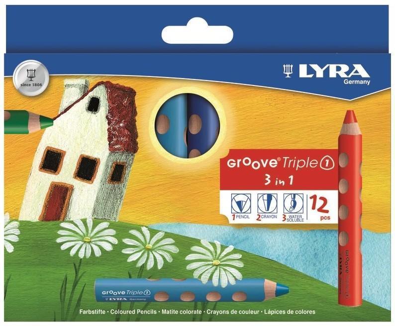 Цветные карандаши 3 в 1 Lyra Triple One, 12 цветов730396Цветные карандаши 3 в 1 Lyra Triple One непременно, понравятся вашему юному художнику. Набор включает в себя 12 ярких насыщенных цветных карандаша 3 в 1: цветной карандаш, акварельный карандаш, восковый мелок. Имеют утолщенную треугольную форму с эргономичным захватом. Идеально подходит для раннего развития ребенка. Карандаши изготовлены из натурального сертифицированного дерева, экологически чистые. Имеют ударопрочный неломающийся высокопигментный грифель, не требующий сильного нажатия и легко затачиваются. Порадуйте своего ребенка таким восхитительным подарком! В комплекте: 12 карандашей 3 в 1.