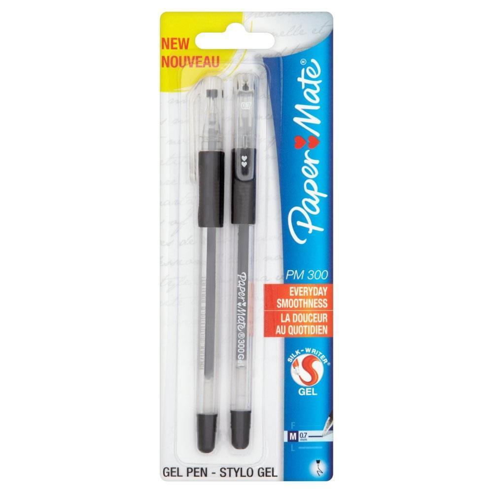 Ручка гелевая PM 300, черная, 0,7мм, 2шт. в блистереPM-S0929300