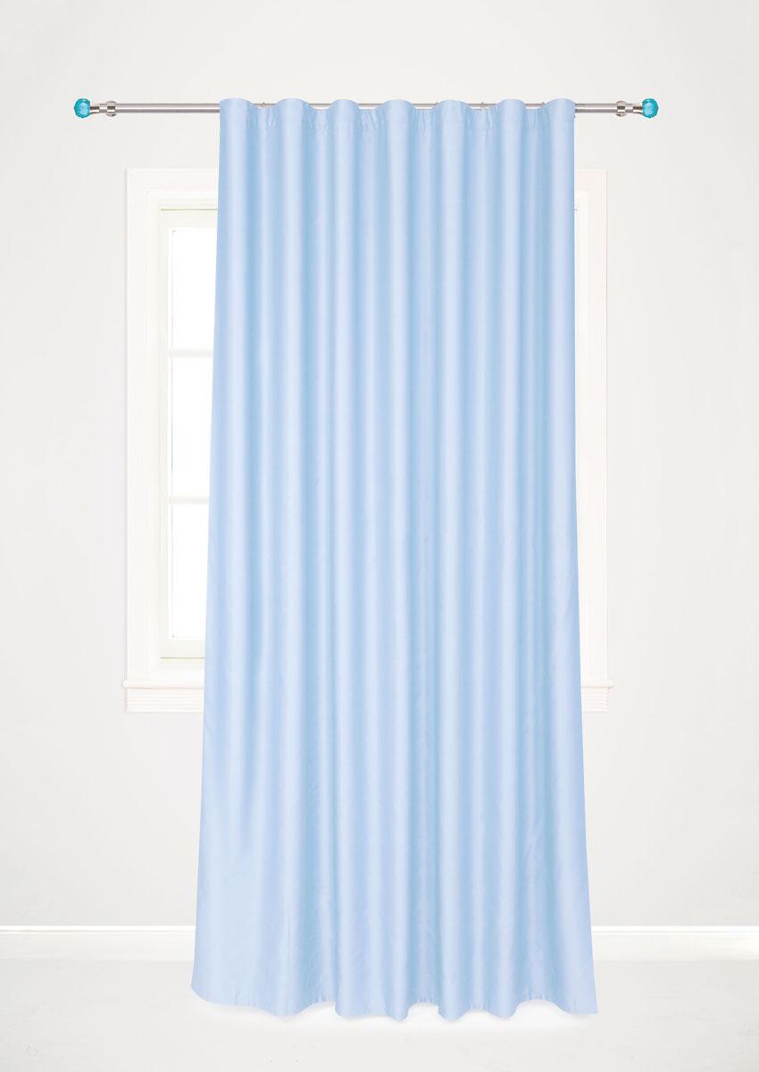 Штора для гостиной Garden, на ленте, цвет: голубой, размер 200 х 260 см. с w1223 V79150DW90Роскошная штора-портьера Garden выполнена из сатина (100% полиэстера). Материал плотный и мягкий на ощупь.Оригинальная текстура ткани и нежный цвет привлекут к себе внимание и органично впишутся в интерьер помещения.Эта штора будет долгое время радовать вас и вашу семью!Штора крепится на карниз при помощи ленты, которая поможет красиво и равномерно задрапировать верх. Стирка при температуре 30°С.