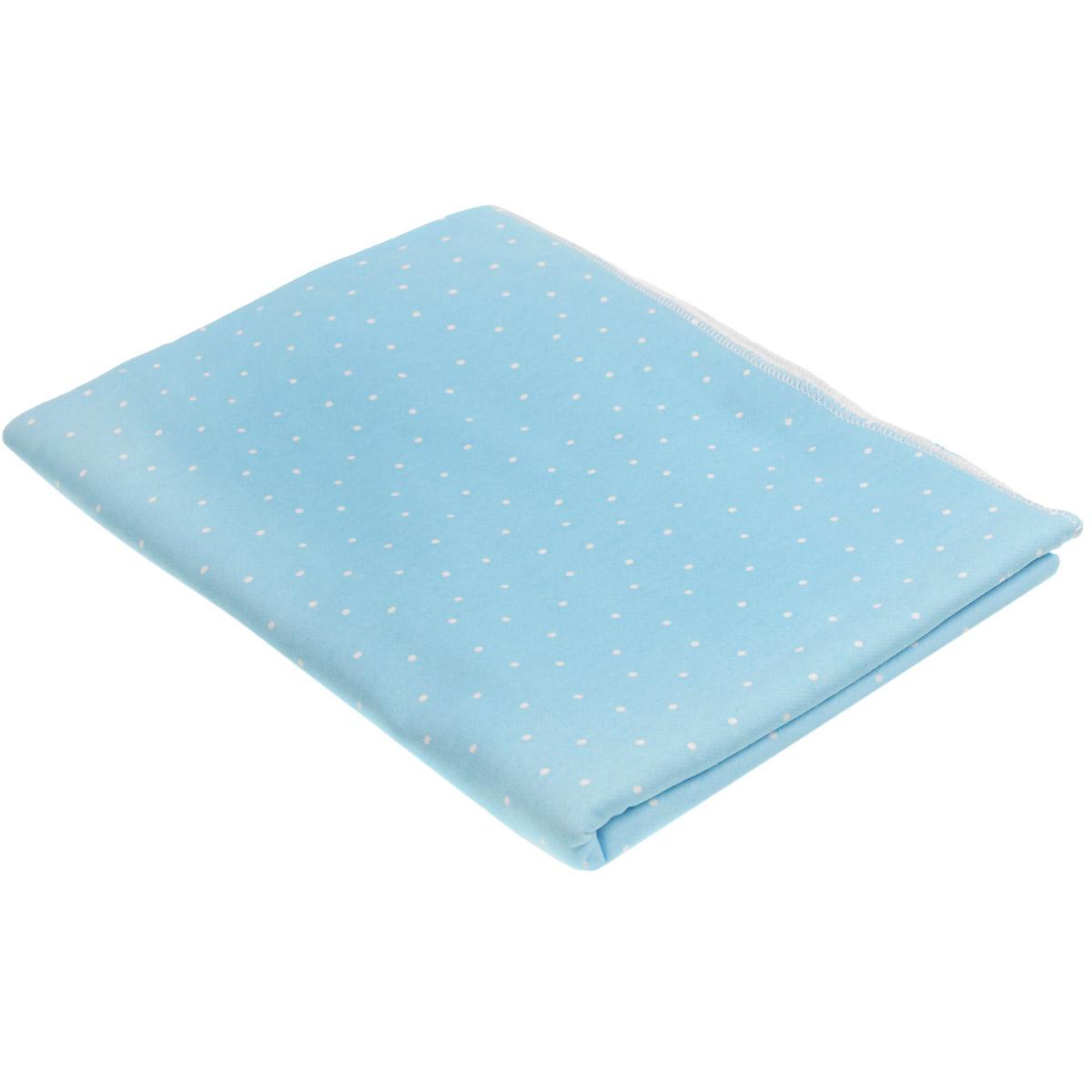 Пеленка трикотажная Трон-плюс, цвет: голубой, белый, 120 см х 90 см20-4Детская пеленка Трон-Плюс подходит для пеленания ребенка с самого рождения. Она невероятно мягкая и нежная на ощупь. Пеленка выполнена из футера - натурального трикотажного материала из хлопка, гладкого с внешней стороны, мягкого и нежного с внутренней. Такая ткань прекрасно пропускает воздух, она гипоаллергенна, не раздражает чувствительную кожу ребенка, почти не мнется и не теряет формы после стирки. Мягкая ткань укутывает малыша с необычайной нежностью. Пеленку также можно использовать как легкое одеяло в жаркую погоду, простынку, полотенце после купания, накидку для кормления грудью или солнцезащитный козырек.Ее размер подходит для пеленания даже крупного малыша.