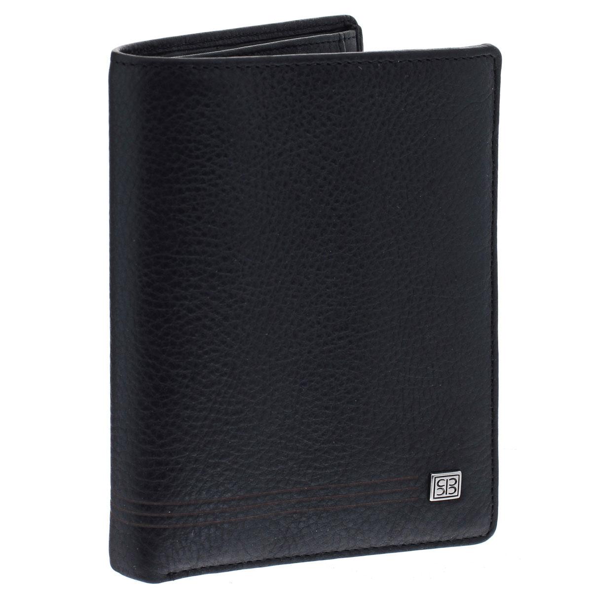 Портмоне мужское Sergio Belotti, цвет: черный. 1022W16-12129_200Вертикальное портмоне Sergio Belotti выполнено из высококачественной натуральной кожи, дубленой с использованием экстрактов растительного происхождения.Внутри два отделения для купюр, отделение для мелочи, закрывающееся клапаном на кнопке, четыре кармашка для визиток и пластиковых карт, пять карманов для мелких бумаг, а также откидное отделение с карманом сеточкой, потайным кармашком и четырьмя карманами для карт.Изделие упаковано в коробку из плотного картона с логотипом бренда.Это классическое портмоне непременно подойдет к вашему образу и порадует простотой, стилем и функциональностью.