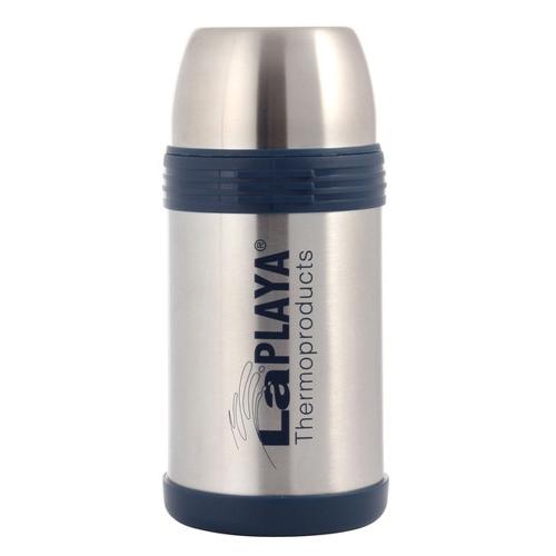 Термос LaPlaya Challenger, 1,2 л115510Термос LaPlaya Challenger идеально подходит для вторых блюд, супов и напитков. Легкий небьющийся корпус из высококачественной нержавеющей стали. Превосходная вакуумная изоляция для продолжительного сохранения горячего и холодного. Широкая герметичная комбинированная пробка позволяет использовать термос для первых и вторых блюд при полном открывании и для напитков - при вывинчивании внутренней части. Дополнительная пластиковая чашка в комплекте. Откидная ручка и съемный ремень позволяют удобно переносить термос. Высота: 24 см. Диаметр (без учета ручки): 11 см. Сохраняет тепло: 8 ч. Сохраняет холод: 24 ч.
