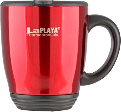 Кружка-термос LaPlaya DFD 2040, цвет: красный, 0,44 л115510Корпус кружки-термоса LaPlaya DFD 2040 выполнен из высококачественной нержавеющей стали с двумя стенками. Пластиковая крышка легко открывается для удобного питья. Кружка идеально подходит для использования в офисе и дома, на отдыхе, во время путешествий. Диаметр кружки по верхнему краю: 10 см. Диаметр кружки по нижнему краю: 6,5 см. Высота кружки: 10 см. Сохраняет тепло: 1 ч. Сохраняет холод: 2 ч.