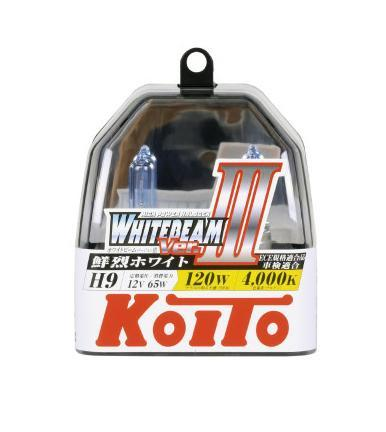 Лампа высокотемпературная Koito Whitebeam H9 12V 65W (120W) пластиковая упаковка -2 шт. комплект P0759WRC-100BWCЯпонская компания KOITO - мировой лидер по производству автомобильных ламп и оптики. Компания основана в 1915 году и в настоящее время входит в корпорацию TOYOTA GROUP и имеет представительства и совместные предприятия по всему миру. Продукция KOITO широко применяется не только для автомобилей, но и для железнодорожных подвижных составов, авиационного и морского транспорта. Компания KOITO выпускает все разновидности лампочек, начиная от ламп головного света и заканчивая подсветкой салона и приборов, для абсолютно всех моделей японских автомобилей и мотоциклов.Компания KOITO выпускает все разновидности ламп и предохранителей для всех моделей японских автомобилей, а также широкий ассортимент для европейских и американских автомобилей. В ассортименте KOITO есть как лампы стандартной комплектации, так и лампы особых серий, таких как VWHITE и WHITEBEAM. Лампы особых серий VWHITE и WHITEBEAM обеспечивают удвоенную яркость при стандартной мощности. Эти лампы соответствуют всем нормам и стандартам, в том числе, и по потребляемой мощности. Эти лампы называются высокотемпературными, потому что при их работе цветовая температура газа достигает 4200 Кельвинов. При этом температура нагрева ламп не превышает допустимые производителем стандартные значения.Выдающиеся качество и надежность лампочек KOITO проверены в таких известных автомобильных состязаниях, как ралли «Париж - Дакар» и 24 - часовые гонки «Ле Манн» и подтверждаются доверием ведущих мировых производителей автомобилей.Напряжение: 12 вольт