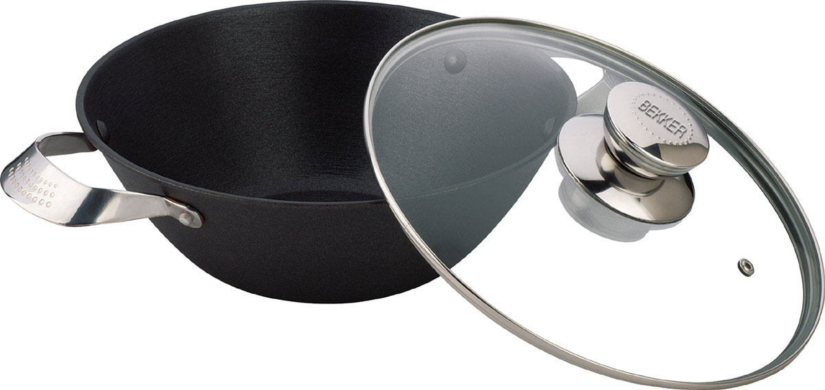 Котелок чугунный Bekker Koch с крышкой, с антипригарным покрытием, 4,3 л. BK-64868/5/3Котелок Bekker Koch изготовлен из чугуна. Котелок идеально подходит для приготовления вкусных тушеных блюд.Котел оснащен двумя прочными ручками из нержавеющей стали. Крышка изготовлена из жаропрочного стекла и оснащена отверстием для выпуска пара и металлическим ободом. Такая крышка позволяет следить за процессом приготовления пищи без потери тепла. Она плотно прилегает к краю котла, сохраняя аромат блюд.Чугун является традиционным высокопрочным, экологически чистым материалом. Причем, чем дольше и чаще вы пользуетесь этой посудой, тем лучше становятся ее свойства. Высокая теплоемкость чугуна позволяет ему сильно нагреваться и медленно остывать, а это, в свою очередь, обеспечивает равномерное приготовление пищи. Чугун не вступает в какие-либо химические реакции с пищей в процессе приготовления и хранения, а плотное покрытие - безупречное препятствие для бактерий и запахов. Пища, приготовленная в чугунной посуде, благодаря экологической чистоте материала не может нанести вред здоровью человека. Котел можно использовать на газовых, электрических, стеклокерамических, галогенных, индукционных плитах. Рекомендуется ручная чистка. Можно использовать в духовом шкафу. Не подходит для СВЧ-печей. Толщина стенки: 4 мм. Диаметр: 30 см. Высота стенки: 11 см. Толщина дна: 0,5 см. Длина котелка (с учетом ручек): 43,5 см.