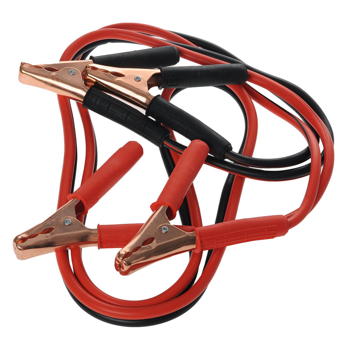 Провода стартовые для автомобилей Качок B400, 2,5 мBH-UN0502( R)Провода аккумуляторной батареи Качок B400 предназначены для запуска двигателя автомобиля с разряженной аккумуляторной батареей от аккумулятора другого автомобиля. Используются для автомобилей с бензиновыми двигателями объемом до 5000 см3 и дизельными двигателями объемом до 4500 см3. Зажимы изолированы с неконтактной стороны. Провода морозоустойчивы. Максимальная нагрузка: 400 А. Морозостойкость: -40°С. Длина проводов: 2,5 м.