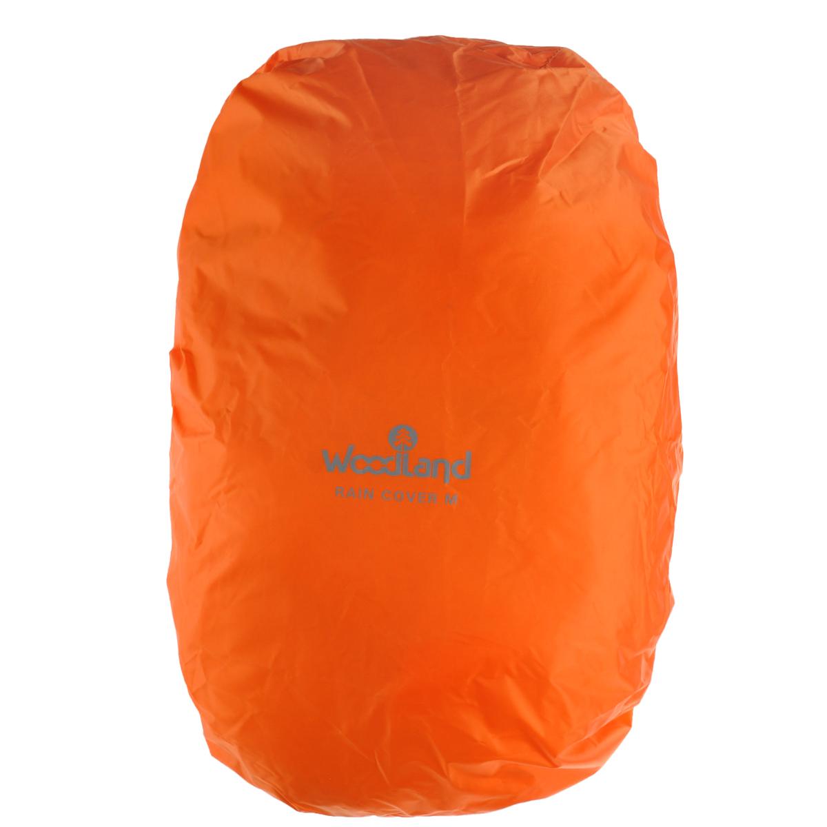 Чехол штормовой для рюкзака WoodLand Raincover, цвет: оранжевый. Размер M67742Защитный чехол WoodLand Raincover используется для рюкзаков большого объема. Он обеспечивает достойную защиту рюкзака в суровых условиях. Чехол выполнен из полиэстера 75D 5000 мм. Закрывается на шнурок на кулиске.