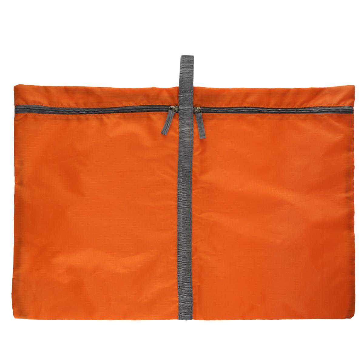 Чехол для белья Hausmann, 60 х 40 смБрелок для ключейУдобный чехол Hausmann, выполненный из прочного дышащего и водонепроницаемого материала, обеспечит надежное хранение вашего белья, защитит от повреждений во время хранения и транспортировки. Особая фактура ткани не пропускает пыль и при этом позволяет воздуху свободно проникать внутрь, обеспечивая естественную вентиляцию.Чехла имеют петлю, за которую его можно повесить. Чехол разделен на два отделения, которые закрываются на молнию. Он будет незаменим в командировке или бизнес-поездке.