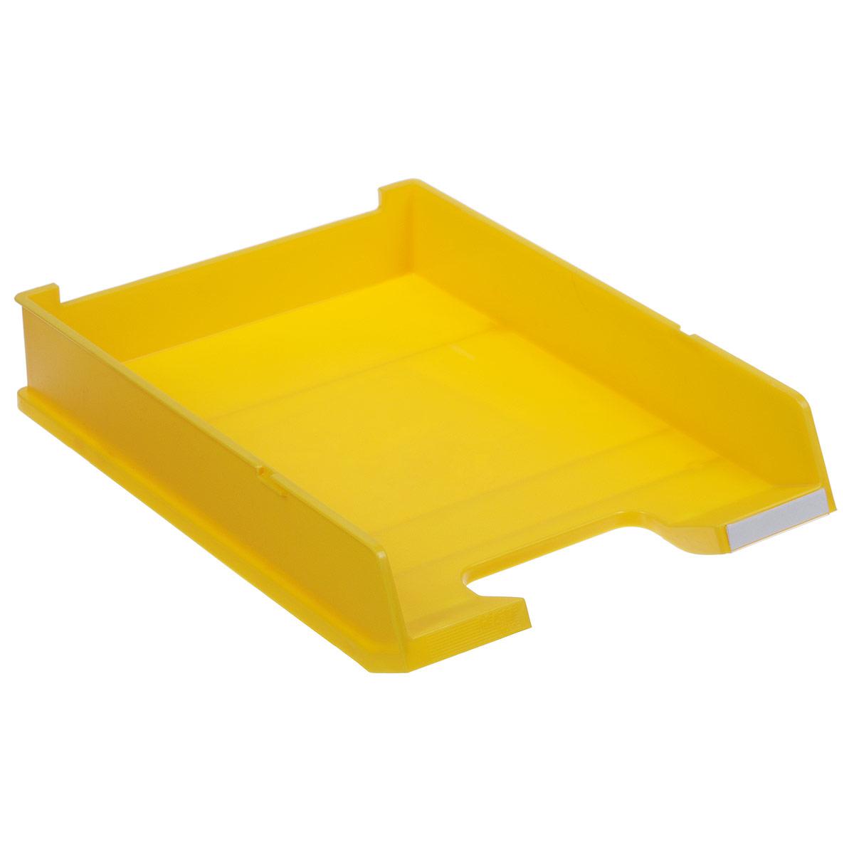 Лоток для бумаг горизонтальный HAN C4, цвет: желтыйFS-54100Горизонтальный лоток для бумаг HAN C4 предназначен для хранения бумаг и документов формата А4. Лоток с оригинальным дизайном корпуса поможет вам навести порядок на столе и сэкономить пространство.Лоток изготовлен из экологически чистого непрозрачного антистатического пластика. Приподнятая фронтальная часть лотка облегчает изъятие документов из накопителя. Лоток имеет пластиковые ножки, предотвращающие скольжение по столу. Также лоток оснащен небольшим прозрачным окошком для этикетки. Лоток для бумаг станет незаменимым помощником для работы с бумагами дома или в офисе, а его стильный дизайн впишется в любой интерьер. Благодаря лотку для бумаг, важные бумаги и документы всегда будут под рукой.Несколько лотков можно ставить друг на друга, один в другой и друг на друга со смещением.