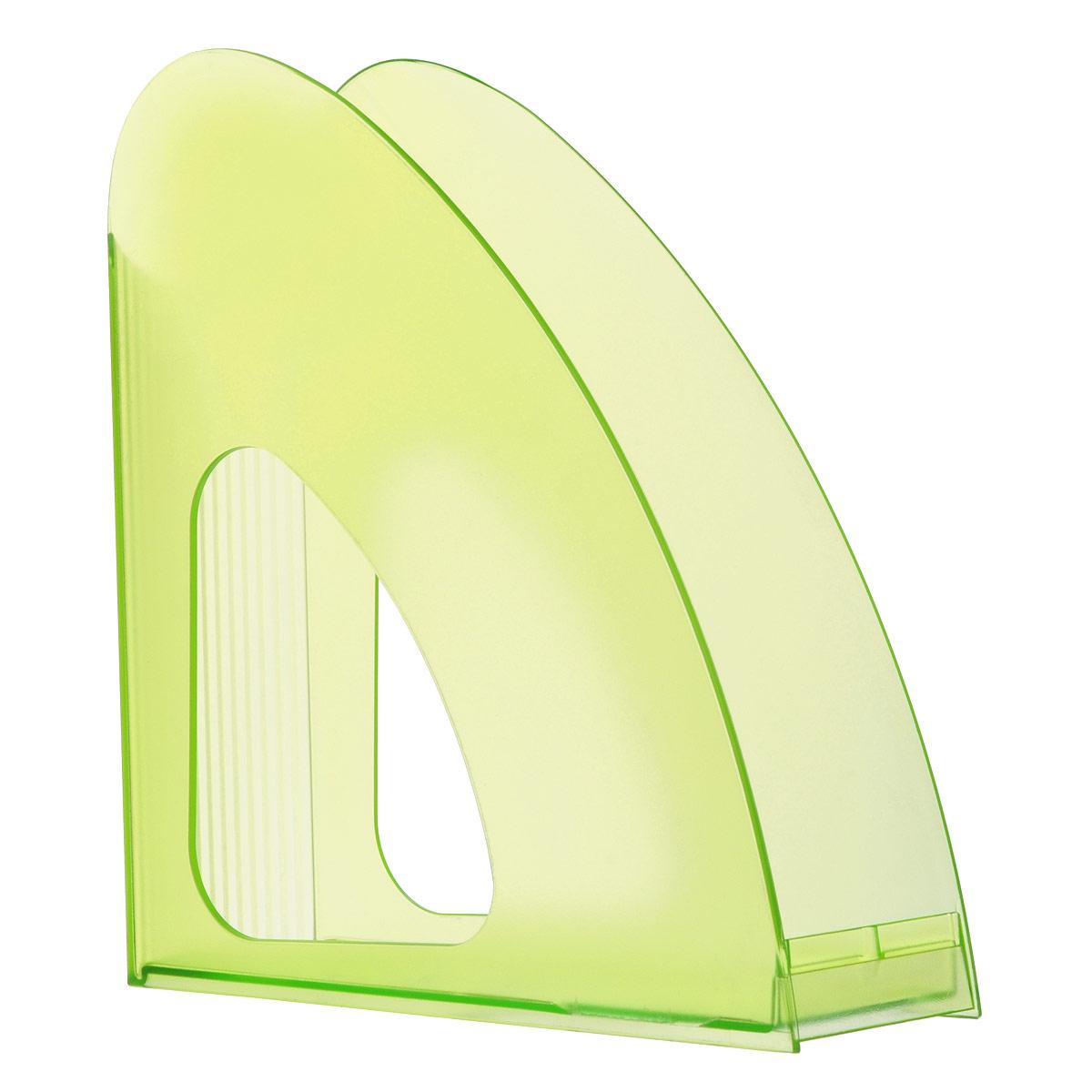Лоток для бумаг вертикальный HAN Twin, прозрачный, цвет: зеленыйFS-00101Вертикальный лоток для бумаг HAN Twin с оригинальным дизайном корпуса поможет вам навести порядок на столе и сэкономить пространство.Лоток изготовлен из высококачественного антистатического прозрачного пластика. Низкий передний порог облегчает изъятие документов из накопителя.Благодаря лотку для бумаг, важные бумаги и документы всегда будут под рукой.
