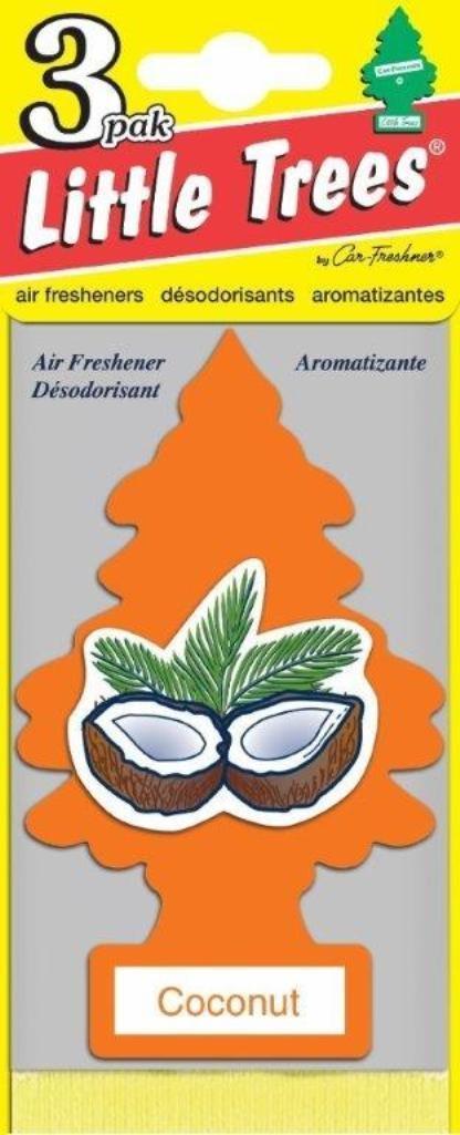 Набор ароматизаторов Car-Freshner Елочка Кокос, 3 штU3S-32011Оригинальный ароматизатор сделан из высококапилярного качественного картона - что позволяет долго сохранять аромат и насыщенность красок изображения. Уникален по эффективности действия, насыщенности и стойкости запахаПовесьте ароматизатор в любом удобном месте - в салоне автомобиля, дома или в офисе - и получайте удовольствие! Характеристики:Материал: 100% спрессованная целлюлоза, полимеры, не токсичные отдушки. Размер упаковки: 19 см х 7,5 см х 1 см. Артикул:U3S-32017.