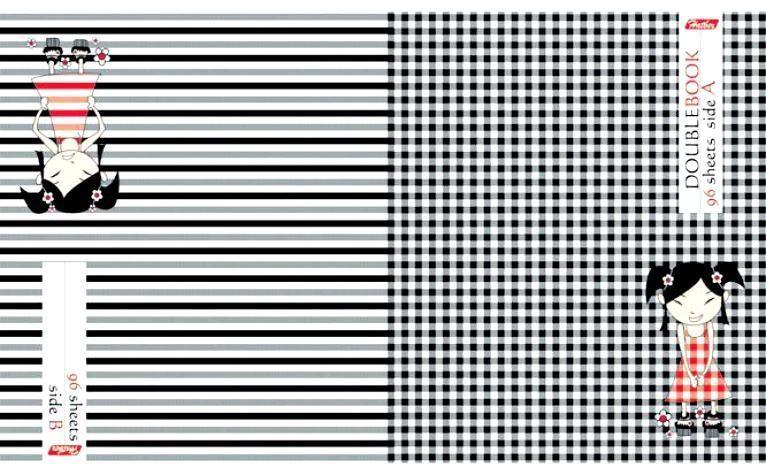 Тетрадь двойная 96л А5ф клетка на скобе-АНИМЕ-72523WDТетрадь двойная с обложками-перевертышами. Два дизайна обложки. 96 листов. Внутренний блок60 гр/кв.м. Тип разметки: В клетку; тип бумаги: Шелковисто-матовая; формат: А5; обложка: картон; пол: унисекс; возраст: старшие классы; способ крепления: Скрепка; упаковка: Коробка картонная
