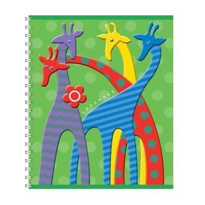 Полиграфика Тетрадь на спирали, 60л Жирафы, цвет: зеленый72523WDПолиграфика Тетрадь на спирали, 60л Жирафы, цвет: зеленый