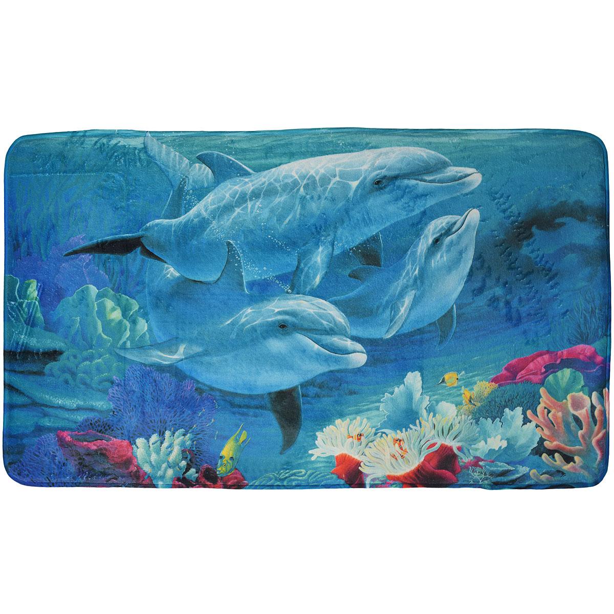Коврик White Fox Дельфины , 60 х 100 см68/2/2Коврик White Fox Дельфины из серии Relax равномерно распределяет нагрузку на поверхность стопы, снимая напряжение и усталость в ногах. Он состоит из трех слоев: - верхний флисовый слой прекрасно дышит, благодаря чему коврик быстро высыхает;- основной слой выполнен из специального вспененного материала, который точно повторяет рельеф стопы, создает комфорт и полностью восстанавливает первоначальную форму;- нижний резиновый слой препятствуют скольжению коврика на полу. Качественное изделие притягивает взгляд и прекрасно подойдет к интерьеру вашего дома.Можно стирать в стиральной машине при температуре 30°С.