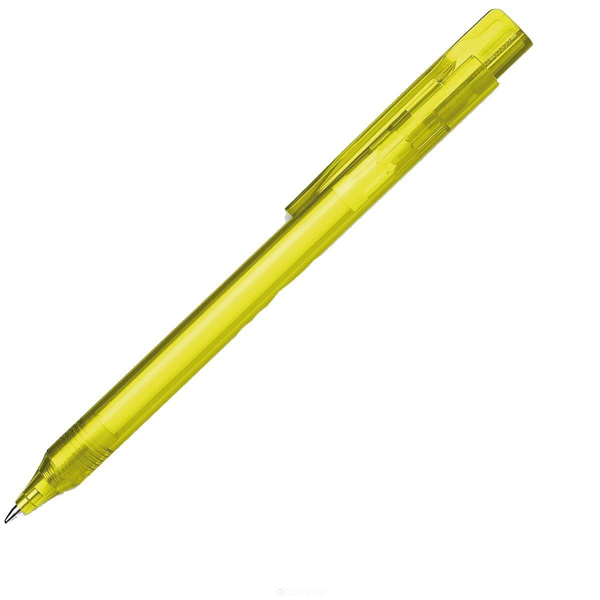 Ручка шариковая Essential, M - 0,5 мм, корпус желтый прозрачный; синий цвет чернил.S937399/50 S937399-01/50