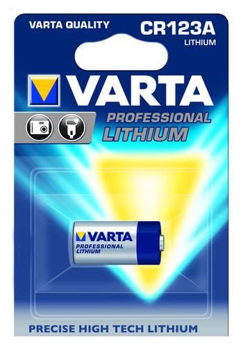 Батарейка Varta Professional Lithium, тип CR123A, 3В, 1 шт38724Мощная литиевая батарейка Varta Professional Lithium предназначена для цифровых, фото и аналоговых камер с более высокой производительностью для создание большого количества фотографий.