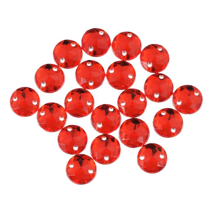 Стразы пришивные Астра, акриловые, круглые, цвет: красный (06), диаметр 8 мм, 20 шт. 7701644_06K100Набор страз Астра, изготовленный из акрила, позволит вам украсить одежду и аксессуары. Стразы оригинального и яркого дизайна выполнены в форме круга и оснащены отверстиям для пришивания. Украшение стразами поможет сделать любую вещь оригинальной и неповторимой.