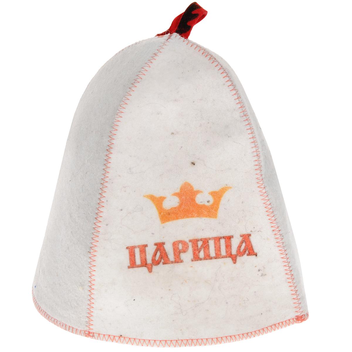 Шапка для бани и сауны Царица, шерстьБ4201Шапка для бани и сауны - это незаменимый аксессуар для любителей попариться в русской бане и для тех, кто предпочитает сухой жар финской бани. Шапка оформлена надписью Царица.Необычный дизайн изделия поможет сделать Ваш отдых более приятным и разнообразным, к тому же шапка защитит Вас от появления головокружения в бани, волосы от сухости и ломкости, а голову от перегрева.Такая шапка станет отличным подарком для любителей отдыха в бане или сауне. Диаметр основания шапки: 34 см. Высота шапки: 26 см.
