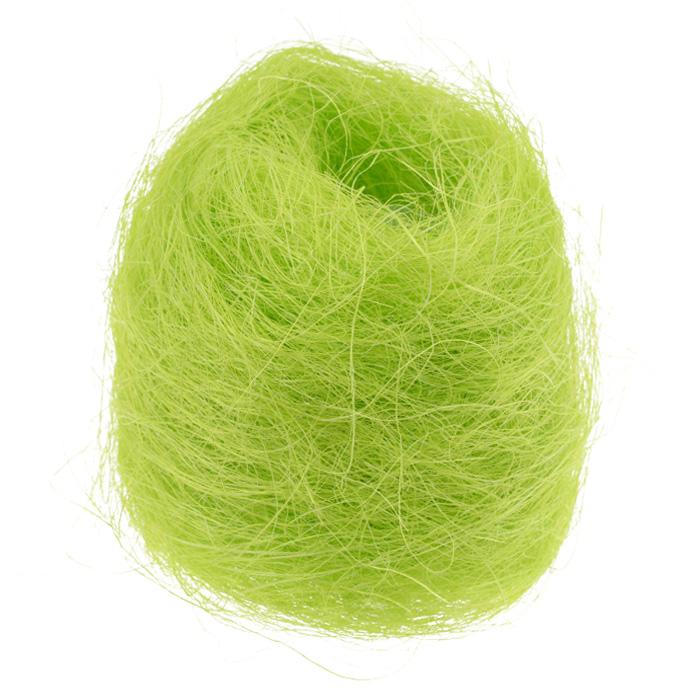 Сизаль Folia, цвет: салатовый (51), 50 гC0042416Сизаль Folia является необыкновенным аксессуаром для флористики и упаковки подарков. Это тонкие, прочные волокна, которые изготовляют из листьев агавы. Сизаль окрашивается в различные цвета и затем из его волокон плетут декоративные веревки, украшают металлические каркасы для букетов, используют его в изготовлении корзин. В подарочной упаковке сизаль удачно используют в изготовлении оригинального оберточного материала. Также сизаль используют как наполнитель в коробках. Во многих флористических композициях сизаль создает легкое облако над букетом, придавая воздушность и свежесть цветам. В рождественских декорациях сизаль подчеркивает зимнее настроение коллекций. Такой материал можно комбинировать с различными аксессуарами, как с природными - веточки, шишки, скорлупа, кора, перья так и с искусственными - стразы, бисер, бусины. Уникальная токая структура волокон позволят создавать новые формы.