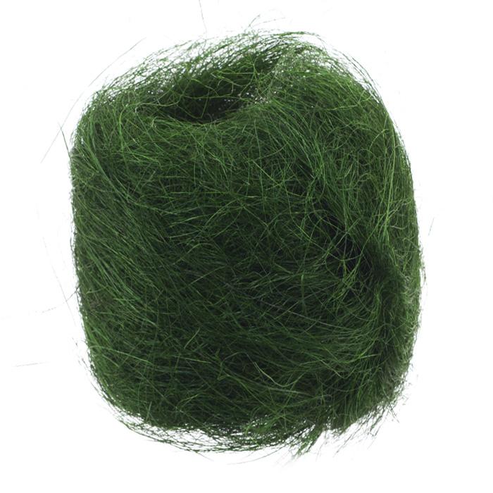 Сизаль Folia, цвет: зеленый (58), 50 гRSP-202SСизаль Folia является необыкновенным аксессуаром для флористики и упаковки подарков. Это тонкие, прочные волокна, которые изготовляют из листьев агавы. Сизаль окрашивается в различные цвета и затем из его волокон плетут декоративные веревки, украшают металлические каркасы для букетов, используют его в изготовлении корзин. В подарочной упаковке сизаль удачно используют в изготовлении оригинального оберточного материала. Также сизаль используют как наполнитель в коробках. Во многих флористических композициях сизаль создает легкое облако над букетом, придавая воздушность и свежесть цветам. В рождественских декорациях сизаль подчеркивает зимнее настроение коллекций. Такой материал можно комбинировать с различными аксессуарами, как с природными - веточки, шишки, скорлупа, кора, перья так и с искусственными - стразы, бисер, бусины. Уникальная токая структура волокон позволят создавать новые формы.