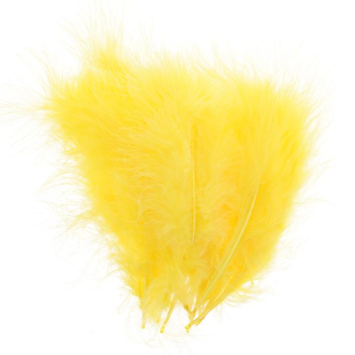 Перо декоративное Астра, индейка, цвет: желтый (48), 20 шт9755/14Декоративные перья Астра являются уникальным творением природы. Именно перья помогают понять настоящую красоту полета, легкость и девственную чистоту. Нередко на первый взгляд декоративные перья кажутся весьма хрупкими, но это вовсе не так, ведь они достаточно прочные и долговечные. Именно это свойство позволяет применять их в оформлении различных аксессуаров, бижутерии, украшениях. Более того, нередко декоративные перья используются для украшения праздников и торжеств, чтобы придать особую помпезность помещению.