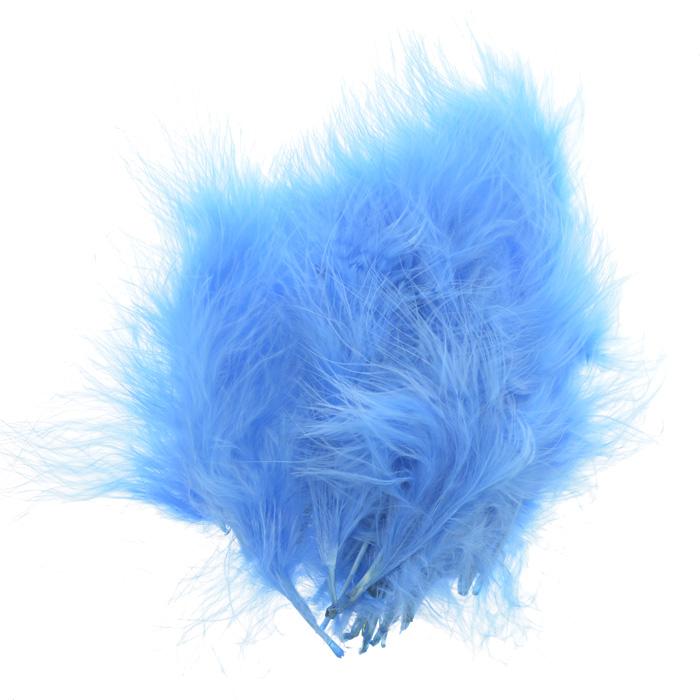 Перо декоративное Астра, индейка, цвет: голубой (59), 20 шт55052Декоративные перья Астра являются уникальным творением природы. Именно перья помогают понять настоящую красоту полета, легкость и девственную чистоту. Нередко на первый взгляд декоративные перья кажутся весьма хрупкими, но это вовсе не так, ведь они достаточно прочные и долговечные. Именно это свойство позволяет применять их в оформлении различных аксессуаров, бижутерии, украшениях. Более того, нередко декоративные перья используются для украшения праздников и торжеств, чтобы придать особую помпезность помещению.