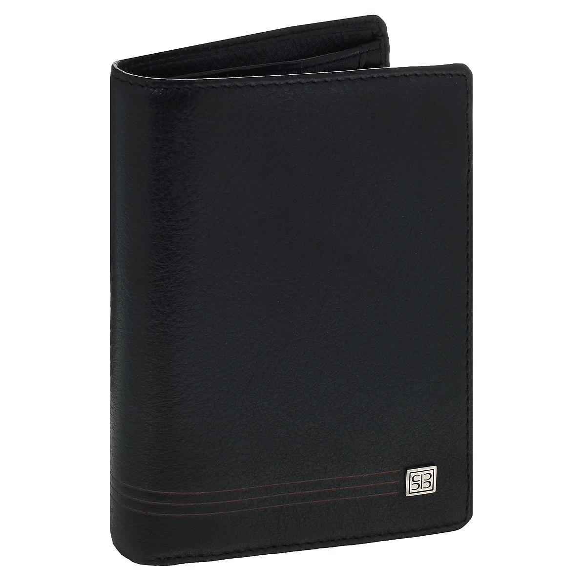 Портмоне Sergio Belotti, цвет: черный. 1422BM8434-58AEВертикальное портмоне Sergio Belotti выполнено из высококачественной натуральной кожи.Внутри два отделения для купюр, отделение для мелочи, закрывающееся клапаном на застежке-кнопке, шесть кармашков для пластиковых карт, один кармашек сеточкой, пять потайных кармашков для документов (один из них закрывается на молнию).Изделие упаковано в коробку из плотного картона с логотипом фирмы.Это классическое портмоне непременно подойдет к вашему образу и порадует простотой, стилем и функциональностью.