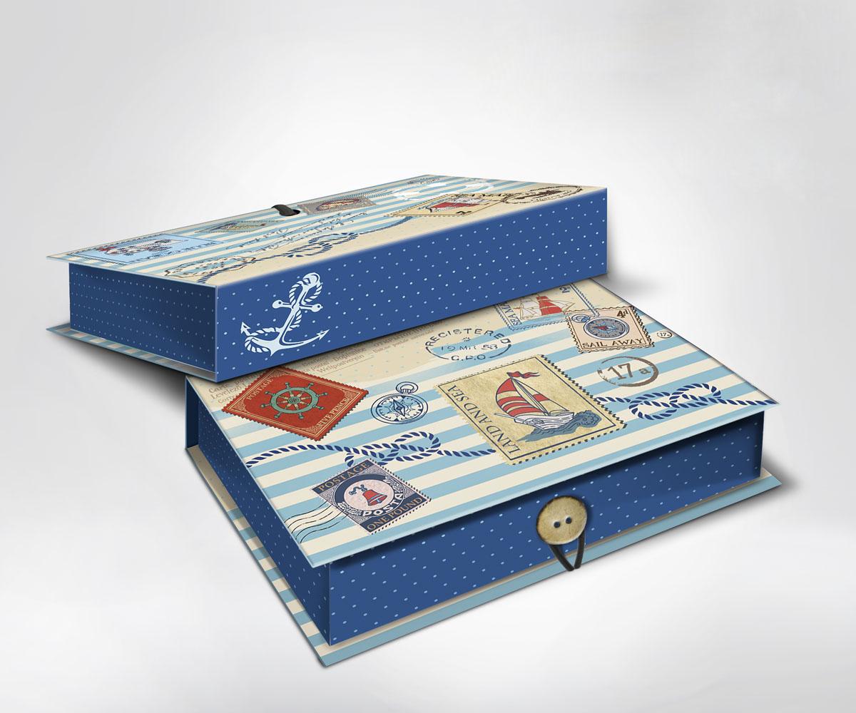 Подарочная коробка Пляж, 22 х 16 х 7 см36501Подарочная коробка Пляж выполнена из плотного картона. Крышка оформлена ярким изображением почтовых марок с морской тематикой. Коробка закрывается на пуговицу.Подарочная коробка - это наилучшее решение, если вы хотите порадовать ваших близких и создать праздничное настроение, ведь подарок, преподнесенный в оригинальной упаковке, всегда будет самым эффектным и запоминающимся. Окружите близких людей вниманием и заботой, вручив презент в нарядном, праздничном оформлении.