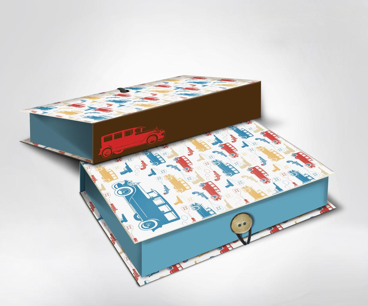 Подарочная коробка Машинки, 22 х 16 7 см