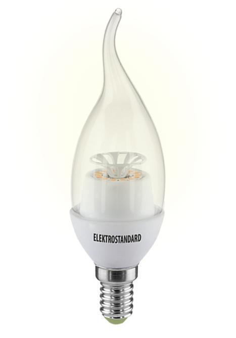Светодиодная лампа Elektrostandard  Свеча на ветру CR 14SMD 4W 3300K E14 elektrostandard лампа светодиодная smd e14 6w 3300k свеча на ветру матовая 4690389054976