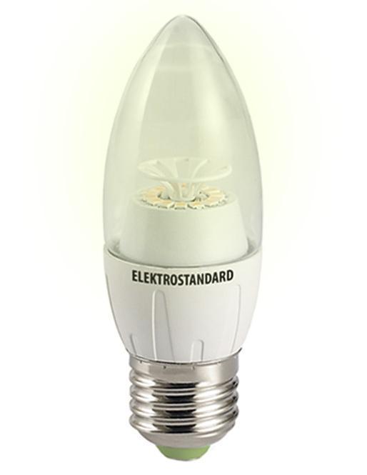 Светодиодная лампа ElektrostandardСвеча CR 12SMD 6W 3300K E27C0042408Светодиодные лампы Elektrostandardблагодаря низкому потреблению и высокой энергоэффективности являются одним из самым перспективным видом освещения. Светодиодные лампы Электростандард можно устанавливать во все светильники в которых используются лампы накаливания, эноргосберегающие, галогенные. Срок службы светодиодных ламп составляет от 30000 до 50000 часов и не зависит от количества включения и выключения,Напряжение: 220 вольт