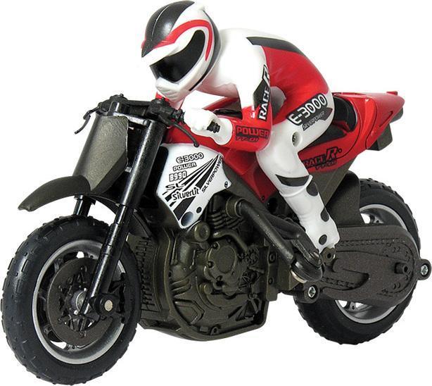 Мотоцикл Гиро Басс с гироскопом 82414 Silverlit - мотоцикл с цифровым пилотированием и контролем скорости в масштабе 1:18. Удивительно, но он может двигаться с наклонами вправо и влево на различных скоростях! Встроенный гироскоп обеспечит устойчивое движение и сможет корректировать положение после переворота или падения. Благодаря стабилизаторам, мотоцикл может ездить на заднем колесе. Мотоцикл Гиро Басс с гироскопом может исполнять различные трюки на рампах. Новейшая технология позволяет управлять до 10 транспортными средствами, не перебивая сигнал. Дополнительно: Материал: металл, пластик. Размер мотоцикла: 34,5х25х10 см. Для работы необходимо 4 батарейки типа АА (в комплект не входят). В комплект входит: мотоцикл с гироскопом; пульт управления; инструкция. Товар сертифицирован. Изготовлен из высококачественной пластмассы. Экологически безопасна для ребенка, использованные красители не токсичны и гиппоаллергенны. Возрастная группа: от 7 - 10 лет.