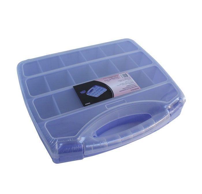930524 Органайзер для хранения с 20 регулируемыми отделениями, 30.5*25.5*6см Hobby&ProNLED-420-1.5W-RКонтейнер для мелочей изготовлен из прозрачного пластика, что позволяет видеть содержимое. Внутри содержится 20 ячеек для хранения мелких принадлежностей. Крышка плотно закрывается. Такой контейнер поможет держать вещи в порядке. Идеально подходит для хранения принадлежностей для шитья и других мелких бытовых предметов.