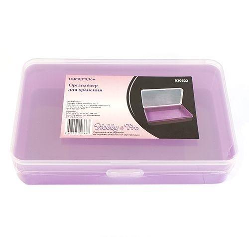 930522 Органайзер для хранения, 14.6*9.1*3.1см Hobby&ProNLED-420-1.5W-RКоробка для мелочей изготовленная из прозрачного пластика. В ней можно хранить мелкие предметы для рукоделия, например, бисер, блестки, стразы или пайетки. Изделие плотно закрывает прозрачной крышкой. Такая коробка поможет держать вещи в порядке.