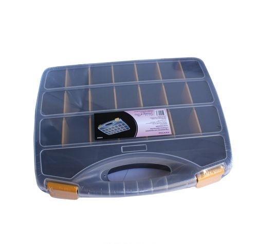 930523 Органайзер для хранения с 23 регулируемыми отделениями, 37.8*31*5.9см Hobby&Pro41619Контейнер для мелочей изготовлен из прозрачного пластика, что позволяет видеть содержимое. Внутри содержится 23 ячеек для хранения мелких принадлежностей. Крышка плотно закрывается. Такой контейнер поможет держать вещи в порядке. Идеально подходит для хранения принадлежностей для шитья и других мелких бытовых предметов.